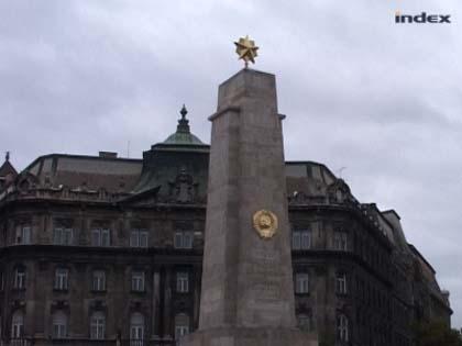 Szóváltás a szovjet emlékművel
