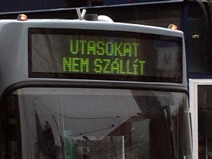 Közlekedési sztrájk Budapesten