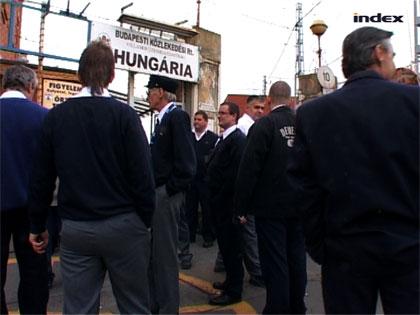 Sztrájktörés a Hungária remizben
