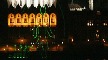 Gerillavetítés a Parlamentre